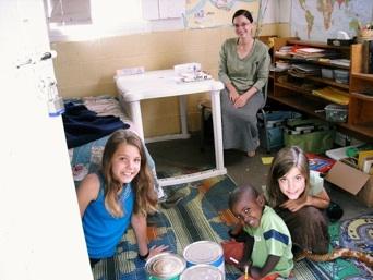 A peek inside the schoolroom...
