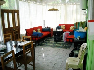 Our veranda (dining room, living room)