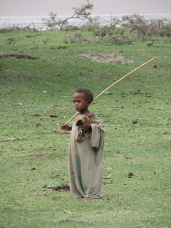 A local shepherd boy.