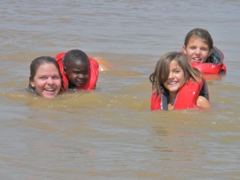 This is the normal color of Lake Langano... here the kids are swimming with Kara, a nurse practitioner from Texas who has been with us for 5 months. Kara has been an incredible, incredible blessing to the entire Langano station.