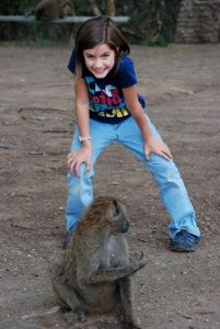 We couldn't believe how different the baboons were in Kenya versus our scary ones here in Langano…