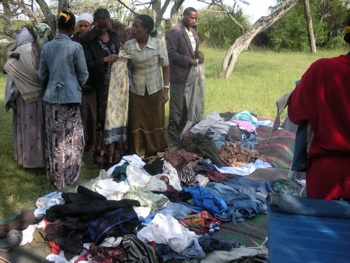 "A ""garage sale"" we had for the community - we raised over $100 for the Langano school!"